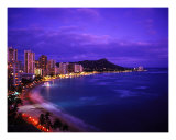 Waikiki Beach At Twilight Photographic Print by Tomas del Amo
