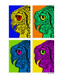 Pop Art Owl Photographic Print by Rui Saraiva