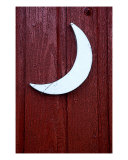 Crescent Moon Outhouse Door Photographic Print by Heidi Brandt