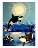 Killer Orca Whale Whales Giclee Print by Teo Alfonso