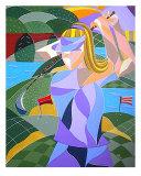 Female Golfer Giclee Print by Kristen Stein