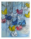 Origami For Peace Giclee Print by Michel Croteau