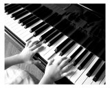Piano Play Photographic Print by Peter Pelke