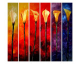 Calla Lilies Giclee Print by James Saenz