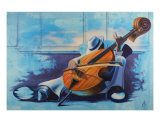 The Cello Man Giclee Print by Aaron Smith