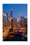 Chicago River City View Photographic Print by Steve Gadomski