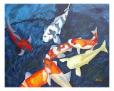 The Koi Pond Giclee Print by Kristen Stein