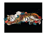 Tiger And Cub Reproduction proc&#233;d&#233; gicl&#233;e par Nancy Tillman