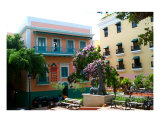 Pastel Buildings In Old San Juan Photographic Print by Doug Rosenberg