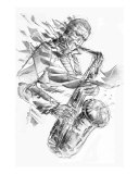 Jazz Saxo Giclee Print by Jacquy Hoff