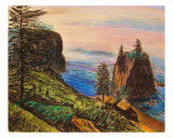 Coastal Scene Giclee Print by Michael Forzato