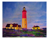 Lighthouse At Dusk Giclee Print by Michael Forzato