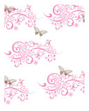 Brown Butterfly And Pink Swirls Photographic Print by Kimberly Teebagy