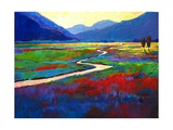 Early Morning Fauve Landscape Giclee Print by Patty Baker