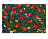 The Tulip Garden Giclee Print by Gayle Wisbon
