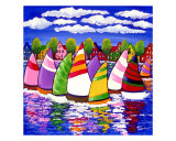 Sailboats Giclee Print by Renie Britenbucher