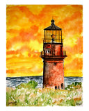Gay Head Lighthouse Marshas Vineyard Giclee Print by Derek Mccrea