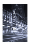 Chicago Theater Marquee In Black & White Photographic Print by Steve Gadomski