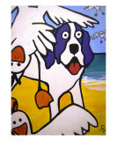 A Day At The Beach Giclee Print by Heather Piccoli