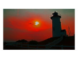 Tranquil Harmony Sunset At Nobska Photographic Print by Joseph Gillette