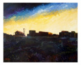 Dawn Breaking In The Ole West Giclee Print by Lloyd Voges