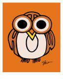 Big Eyed Owl Says Hoot Photographic Print by Kristen Stein