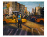 Sunset Traffic Giclee Print by Maria Nash
