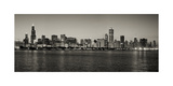 Chicago Skyline In Black And White Photographic Print by Patrick Warneka