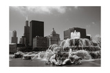 Chicago Buckingham Fountain IIn Black And White Photographic Print by Patrick Warneka