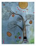 African Tree Hugger Giclee Print by Helga Mcleod