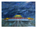 Red Sun Taihe Picture Giclee Print by Liang Lei
