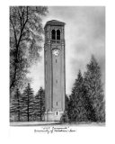 University Of Northern Iowa Campanile Cedar Falls Giclee Print by Pam Mcginnis