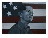 Barack Obama Giclee Print by D SylverFoust