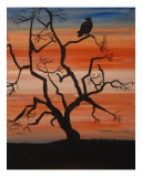 African Sunset Giclee Print by Jean Fitzhugh