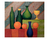 Botellas Verdes Giclee Print by Jose De la Barra