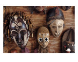 Ancient African Masks Photographic Print by Peppe Arninge