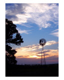 Sunset Windmill Photographic Print by Alexis Swendener