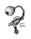 Eye Plug Giclee Print by Gary Kezele