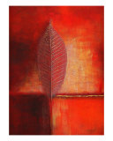Tree Form In Red Giclee Print by Michael Davies