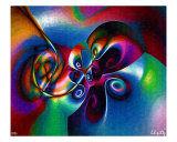 Butterfly And Flower Giclee Print by Lothar Boris Piltz