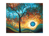 Aqua Burn Giclee Print by Megan Aroon Duncanson