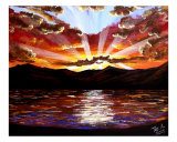 Most Beautiful Sunset Ever Giclee Print by Teo Alfonso
