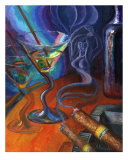 Drunk Illusions Giclee Print by Alla Bespalov