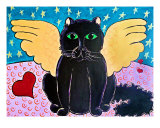 Fluffy Angel Cat Giclee Print by Melia Newman