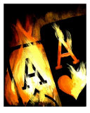 World Famous Flaming Aces Giclee Print by Teo Alfonso