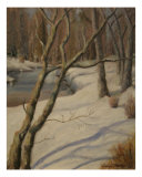 Brandywine River In Winter Giclee Print by Sarah Parks