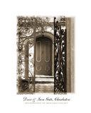 Charleston Door & Iron Gate In Sepia Photographic Print by Benjamin Padgett