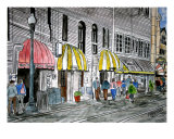 Savannah Ga Cityscape River Street Art Giclee Print by Derek Mccrea