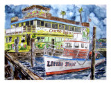 Clearwater Florida Boat Painting Giclee Print by Derek Mccrea