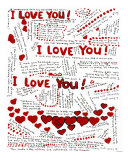 I Love You Giclee Print by Leone Ardo